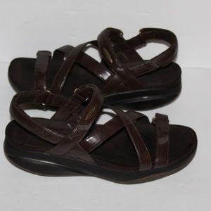 MBT Dark Brown Leather sandals Women size 9-9.5